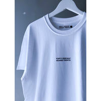 "FORTY PERCENT AGAINST RIGHTS  "" BANNER SS tee ""  (white)"