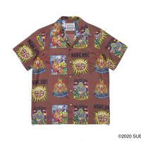 """WACKO MARIA × SUB LIME """" Hawaiian shirt (type-2) (brown)"""