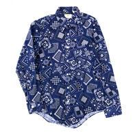 70's  バンダナ柄 L/S shirt  (Hi  brand hurugi) #A1