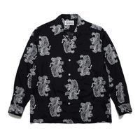 WACKO MARIA  x TIM LEHI / L/S Hawaiian Shirt (TYPE-2) (white)