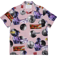 WACKO MARIA  x DJ HARVEY S/S HAWAIIAN SHIRT (pink)