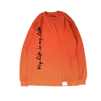 FORTY PERCENT AGAINST RIGHTS / MY LIFE LS TEE 01(orange)