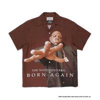 "WACKO MARIA / THE NOTORIOUS B.I.G. ""Hawaiian shirt(TYPE-1) (brown)"