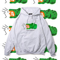 "Diaspora skateboards "" Croc Hooded Sweat ""  (ash)"