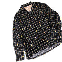 50's Print flannel shirt (spice)