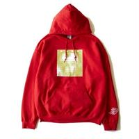 "CYDERHOUSE ×頭脳警察  ""Brain Police 1  Hoodie  (red)"
