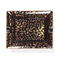 """WACKO MARIA """"Leopard ashtray(type-2)""""  (black)"""