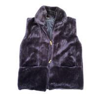 """""""No-sleeve fur jacket"""" (BULBS VINTAGE )"""
