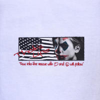 """FRT  """"GOD BROS AMERICA S/S T-SHIRT"""" (white)"""