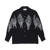 WACKO MARIA /  HAWAIIAN SHIRT L/S ( TYPE-5 )(black × white)