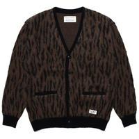 WACKO MARIA / Leopard mohair cardigan (brown)