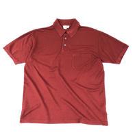 "HERMES /  ""H"" S/S Polo Shirt  (burgundy) (Hi brand hurugi)"