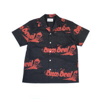 WACKO MARIA ×Lee Perry  /  Disco Devil S/S Hawaiian Shirt (type-1)(black)