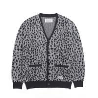 WACKO MARIA   / Leopard Mohair Cardigan (white)