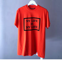 FORTY PERCENT  AGAINST RIGHTS  / MY LIFE BOX SS TEE 03 (orange)