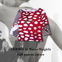 """HERMES (マルジェラ期)"""" Full pattern Cut-sew """"(Hi brand hurugi)"""