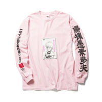 "F-LAGSTUF-F x VIDEO GIRL (電影少女) / ""VIDEO"" L/S Tee (pink)"