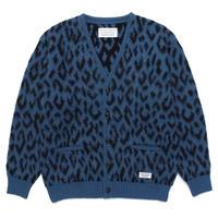 WACKO MARIA / Leopard heavy mohair cardigan (blue)