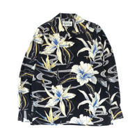 WACKO MARIA / HAWAIIAN SHIRT L/S (type-7,black)