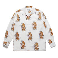 WACKO MARIA  x TIM LEHI / L/S Hawaiian Shirt (TYPE-3) (white)