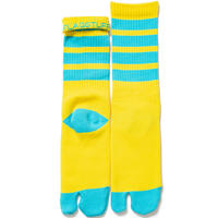 "F-LAGSTUF-F ""4line tabi socks""(yellow)"