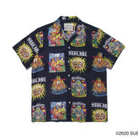 "WACKO MARIA × SUB LIME "" Hawaiian shirt (type-2) (black)"