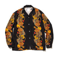 "F-LAGSTUF-F x 金子富之 / L/S HAWAIIAN SH ""Suiko"" (black)"
