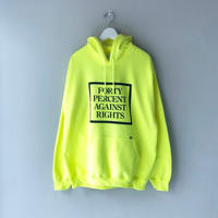 FORTY PERCENT AGAINST RIGHTS / PG-13 HOODED SWEATSHIRT (yellow)