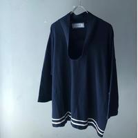 """90's GIAANI VARSACE """"draped neck light knit """" (Hi brand hurugi)"""