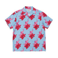 "WACKO MARIA ""Hawaiian shirt"" type-2( blue)"