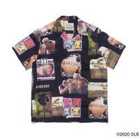 "WACKO MARIA × SUB LIME "" Hawaiian shirt (type-1) (black)"