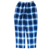 THREE FACE / indigo plaid EASY PANTS (indigo B)