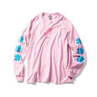 """ZATUON × 一休さん """"ZEN L/S tee """" (pink)"""