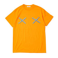 "F-LAGSTUF-F   "" Cross LOGO Tee""  (orange  )"