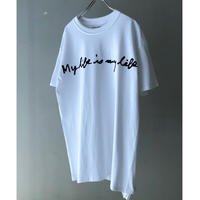 "FORTY PERCENT AGAINST RIGHTS "" My Life SS TEE  "" (white)"