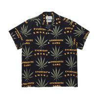 WACKO MARIA ×舐達麻 / Hawaiian shirt (black)