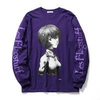 """エヴァンゲリオン新劇場版/F-LAGSTUF-F """" L/S Tee1 """" (purple)"""