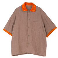 "PHINGERIN ""SB COLLAR LINEN SHIRT"" (brown)"
