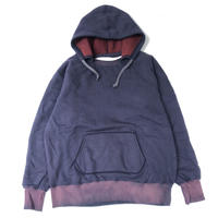 "THREE FACE  ""W-FACE AFTER HOODIE "" (navy)"