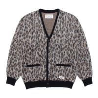 WACKO MARIA / Leopard mohair cardigan (beige)