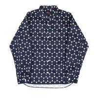 MASSES / Dot Shirt L (navy)