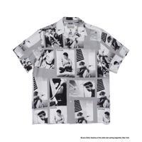 """WACKO MARIA /  Larry Clark / Site-lo """" TULSA  Hawaiian shirt  (gray)"""
