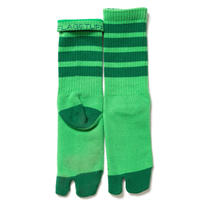 """F-LAGSTUF-F """"4line tabi socks""""(green)"""