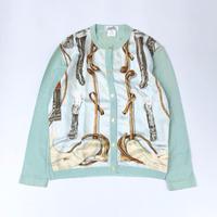 HERMES / Silk Scarf Pattern Cardigan