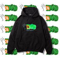 "Diaspora skateboards "" Croc Hooded Sweat ""  (black)"