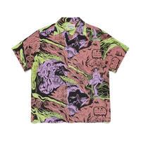 WACKO MARIA / Hawaiian shirt S/S (type-1)(pink)