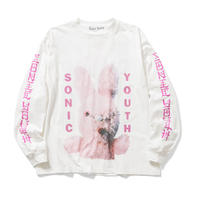 "F-LAGSTUF-F × Sonic Youth ""L/S Tee2""(white)"