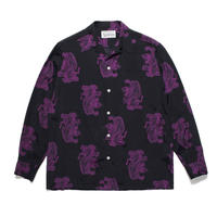 WACKO MARIA  x TIM LEHI / L/S Hawaiian Shirt (TYPE-2) (purple)