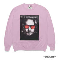 "WACKO MARIA ×THE BIG LEBOWSKI ""Crew Neck Sweat Shirt ""(pink)"