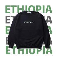 CABARET POVAL / Ethiopia Crewneck Sweatshirt(black)